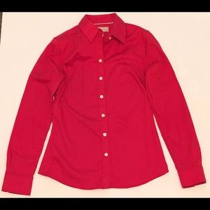 Banana Republic Button Down Shirt Size 4 Hot Pink